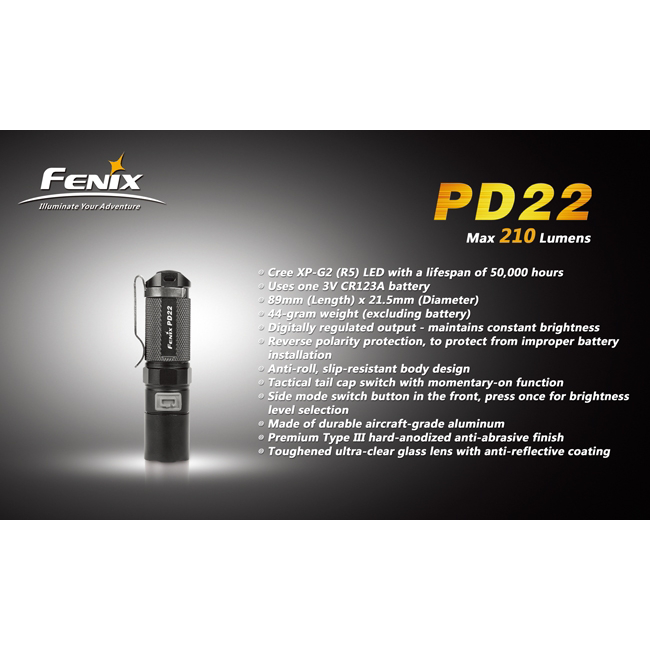 Фонарь Fenix PD22 CREE XP-G2 LED R5 1590