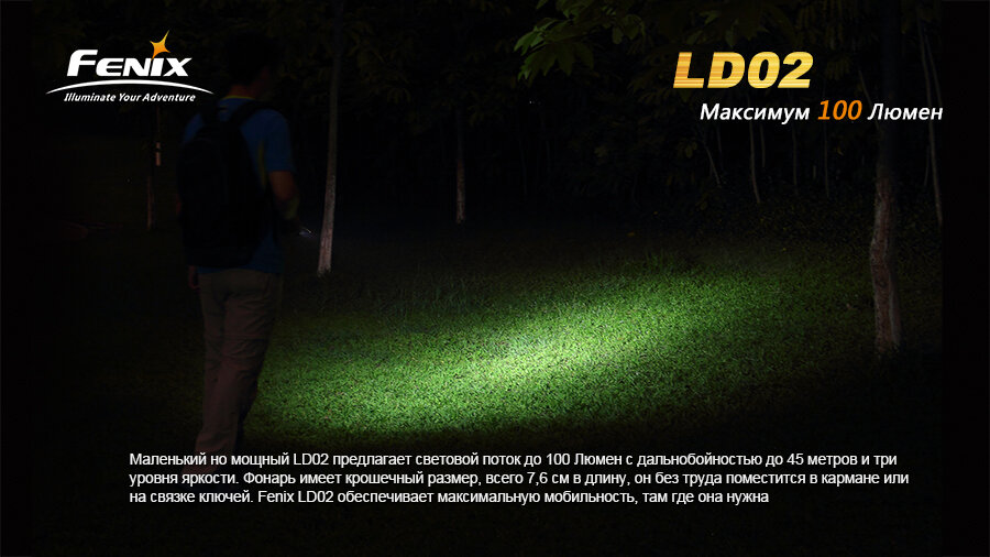 Фонарь Fenix LD02 Cree XP-E2 LED 1281