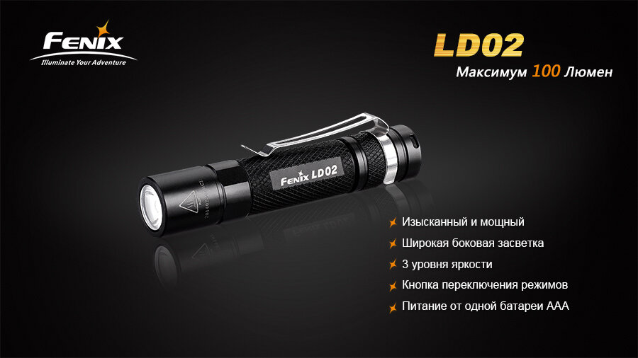 Фонарь Fenix LD02 Cree XP-E2 LED 1282