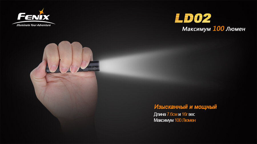 Фонарь Fenix LD02 Cree XP-E2 LED 1283