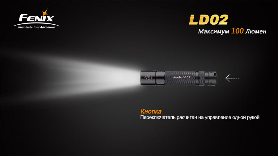 Фонарь Fenix LD02 Cree XP-E2 LED 1286