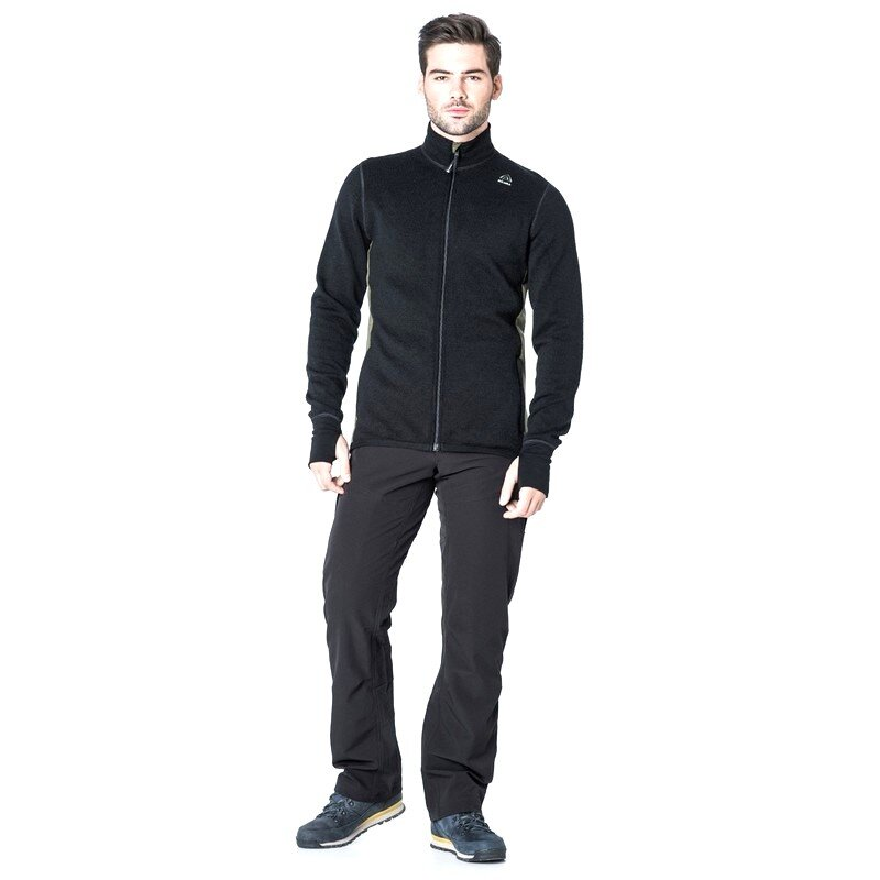 Джемпер мужской Aclima HotWool 400G Jacket Man Black/OliveNight 55332