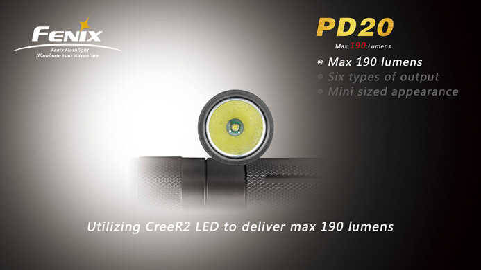 Фонарь Fenix PD20 Cree XP-G LED R5 1568