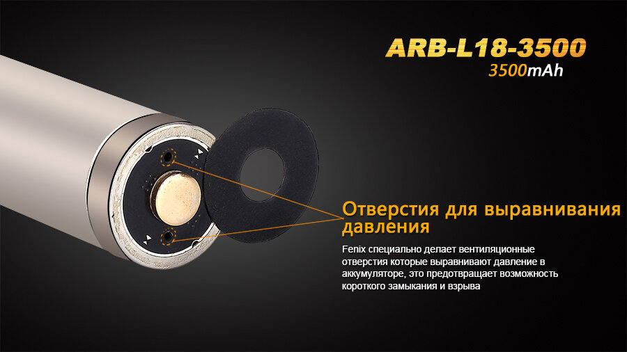 Аккумулятор Fenix ARB-L18-3500 18650 Rechargeable Li-ion Battery 9993