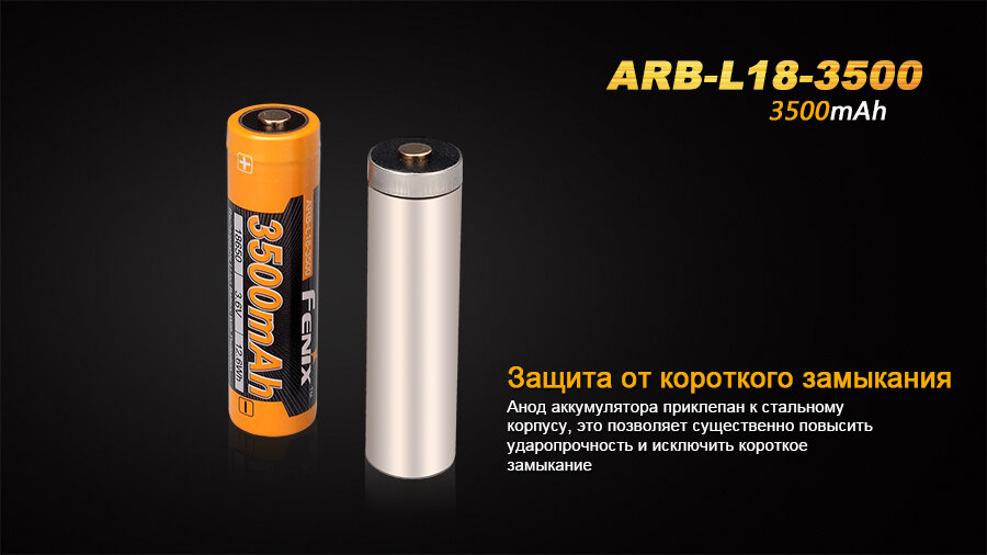Аккумулятор Fenix ARB-L18-3500 18650 Rechargeable Li-ion Battery 9995