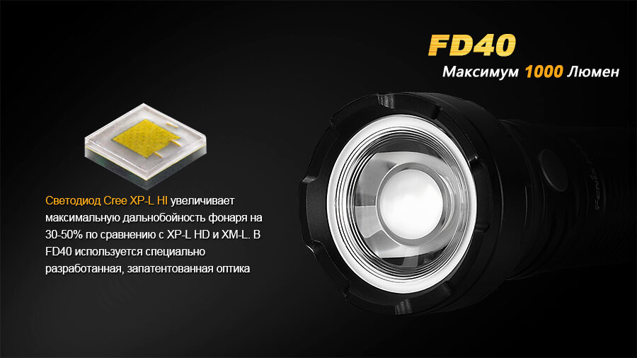 Фонарь Fenix FD40 Cree XP-L HI LED 6180