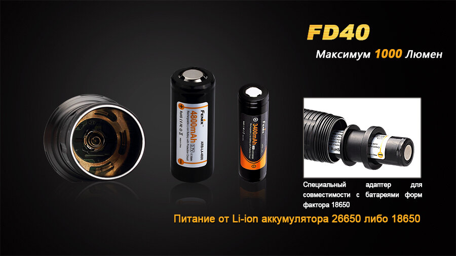 Фонарь Fenix FD40 Cree XP-L HI LED 6182