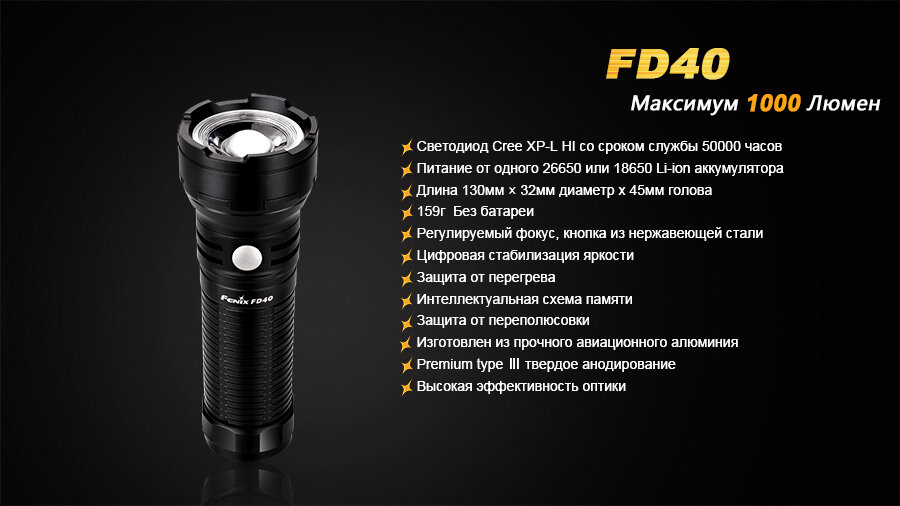 Фонарь Fenix FD40 Cree XP-L HI LED 6186