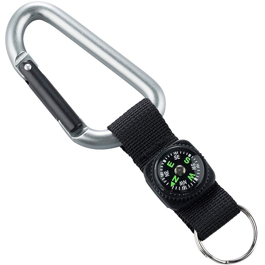 Карабин Munkees 8 mm with strap, compass, keyring (3228) 1