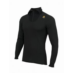 Термофутболка Aclima HotWool 230 gr Polo W/Zip Unisex Black