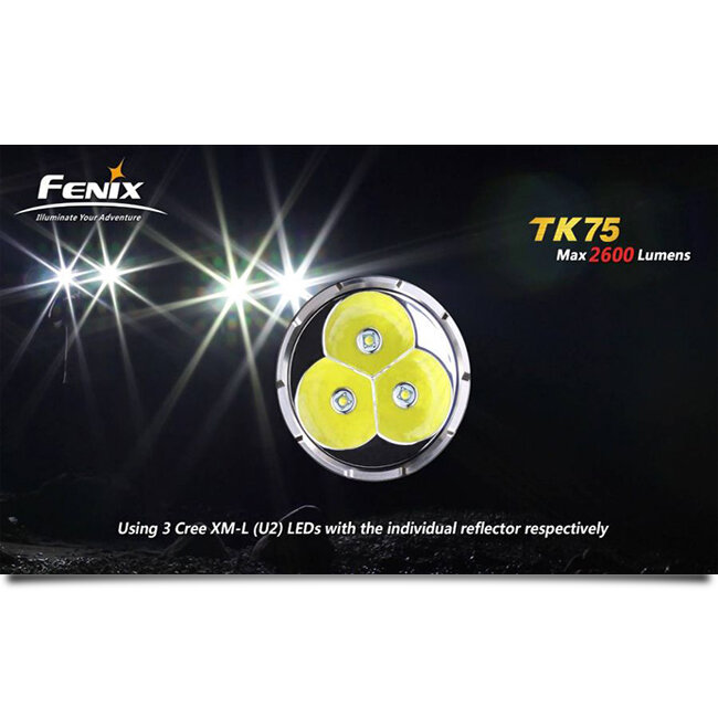 Фонарь Fenix TK75 3xCree XM-L (U2) LED 2017