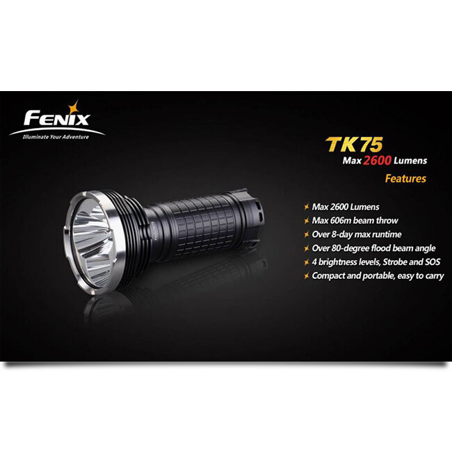 Фонарь Fenix TK75 3xCree XM-L (U2) LED 2019