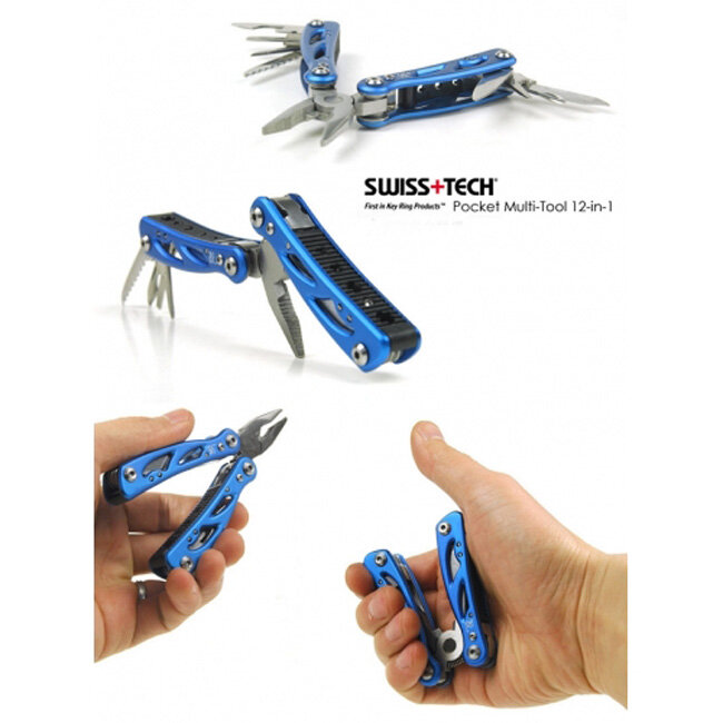 Мультитул Swiss+Tech Pocket Multi-Tool 12 in 1 blue 4043