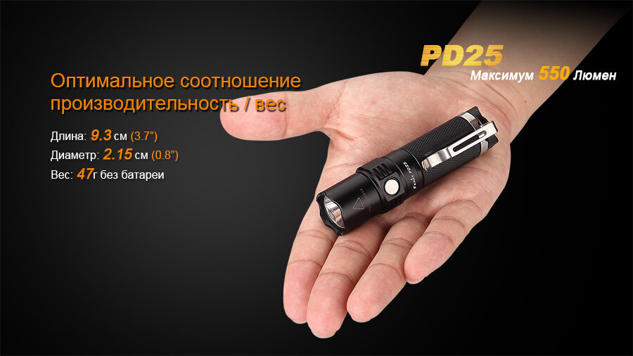 Фонарь Fenix PD25 Cree XP-L 1616