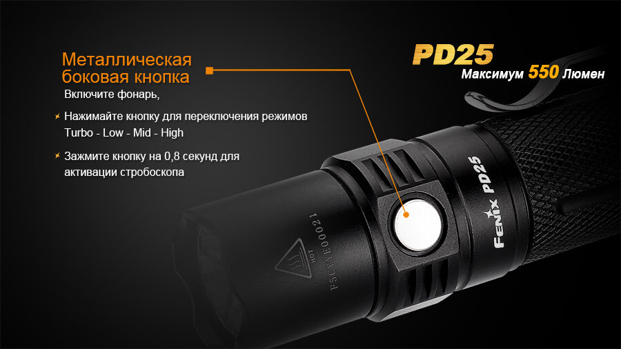 Фонарь Fenix PD25 Cree XP-L 1624