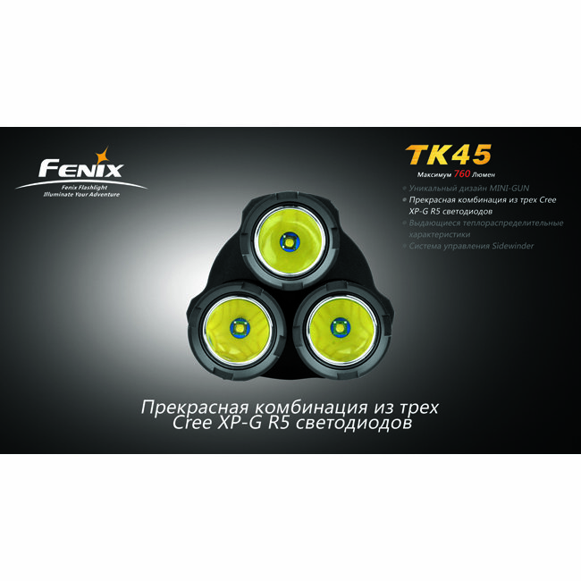 Фонарь Fenix TK45 3xCree XP-G R5 1919