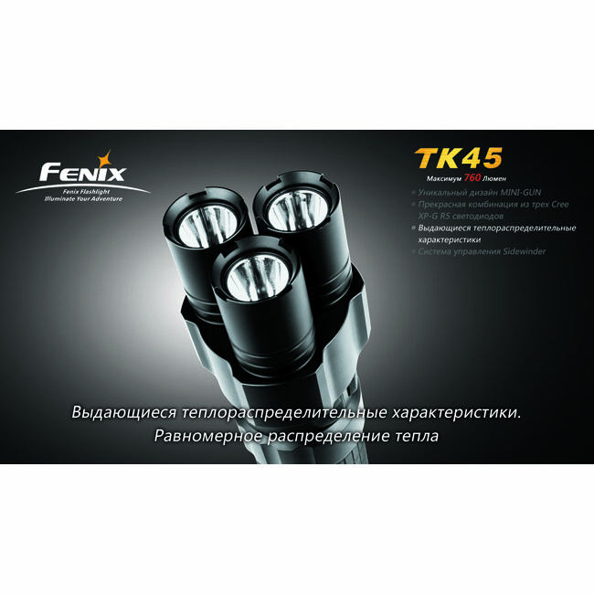 Фонарь Fenix TK45 3xCree XP-G R5 1920
