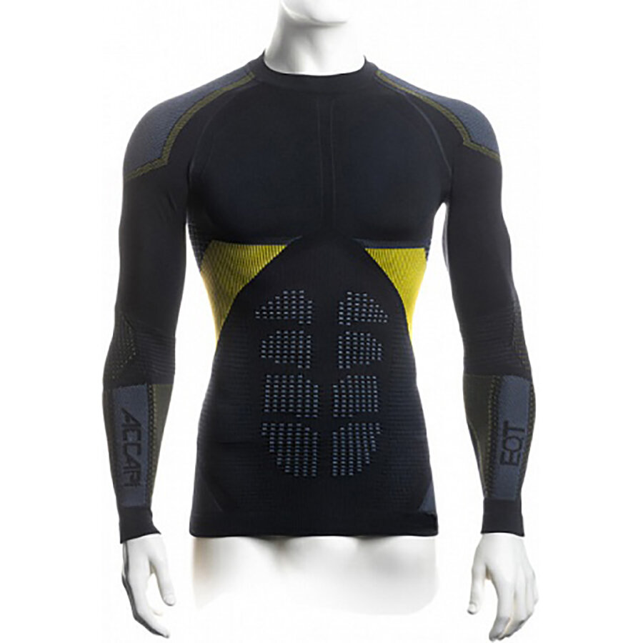 Футболка Accapi Synergy Long Sleeve Shirt Man 920 black/lemon  1