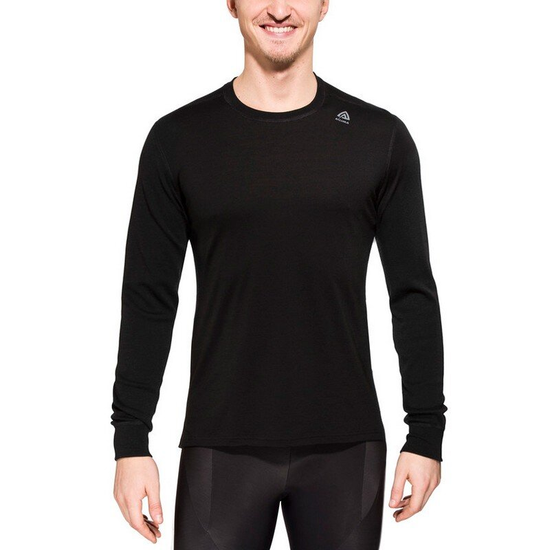Термофутболка Aclima LightWool Shirt Crew Neck Man JetBlack 55171