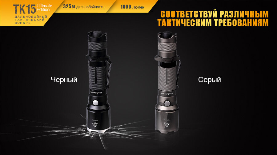 Фонарь Fenix TK15UE CREE XP-L HI V3 LED Ultimate Edition 13640