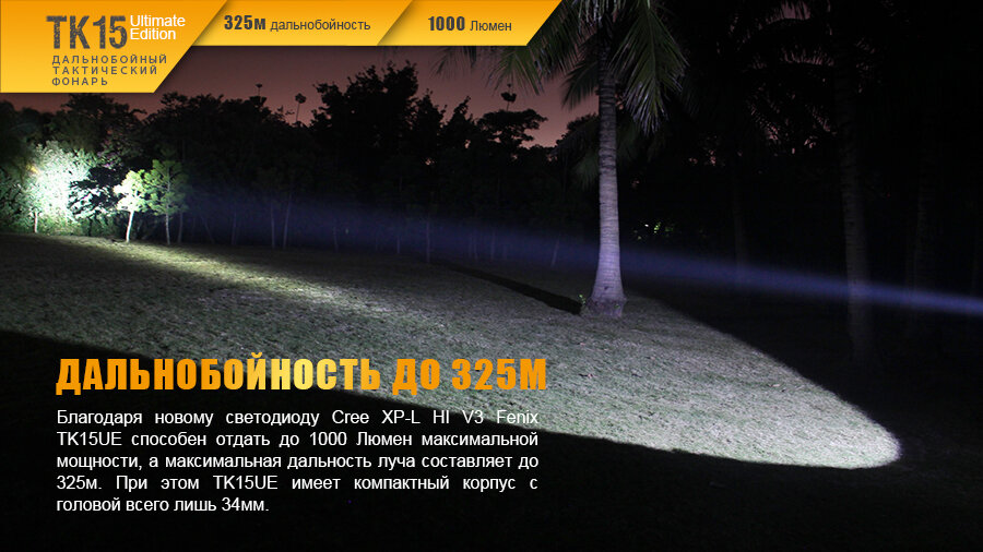 Фонарь Fenix TK15UE CREE XP-L HI V3 LED Ultimate Edition 13641