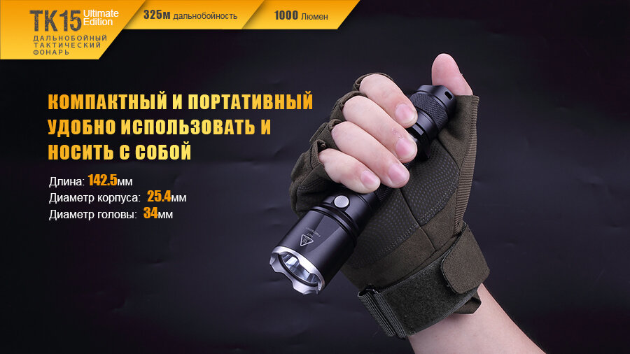 Фонарь Fenix TK15UE CREE XP-L HI V3 LED Ultimate Edition 13644