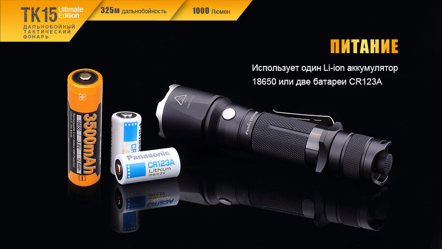 Фонарь Fenix TK15UE CREE XP-L HI V3 LED Ultimate Edition 13645