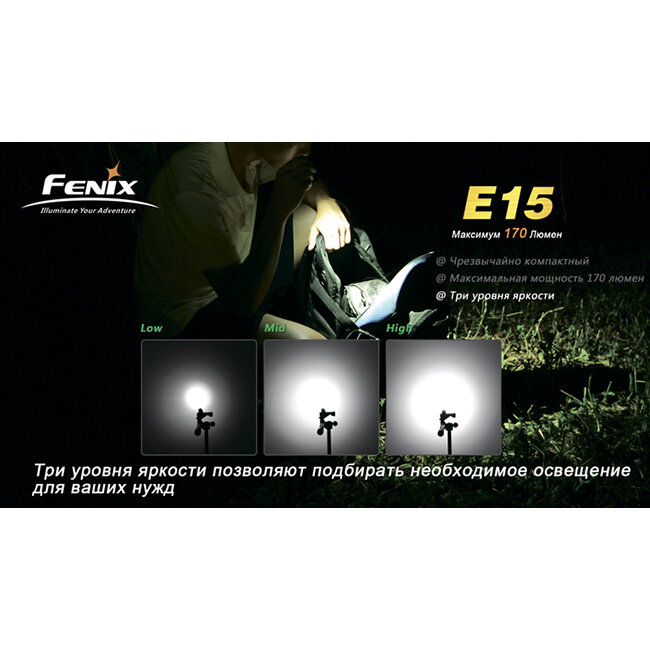 Фонарь Fenix E15 Cree XP-E LED R2 988
