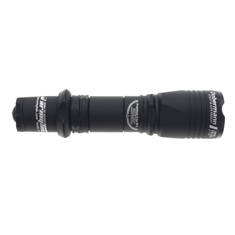 Фонарь Armytek Dobermann Black XP-E2, зеленый 22491