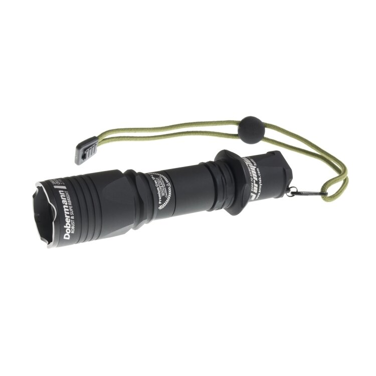 Фонарь Armytek Dobermann Black XP-E2, зеленый 22492