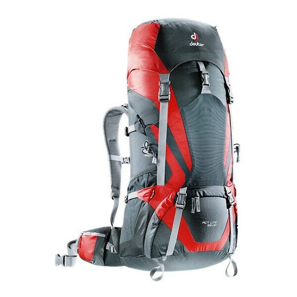Рюкзак Deuter ACT Lite, 65+10 л, granite-fire 1