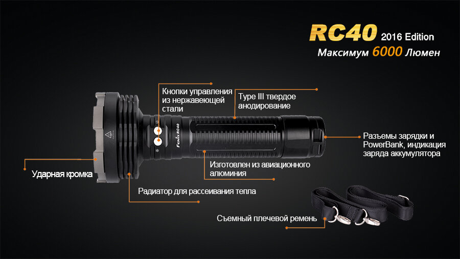 Фонарь Fenix RC40 Cree XM-L2 U2 LED 10800