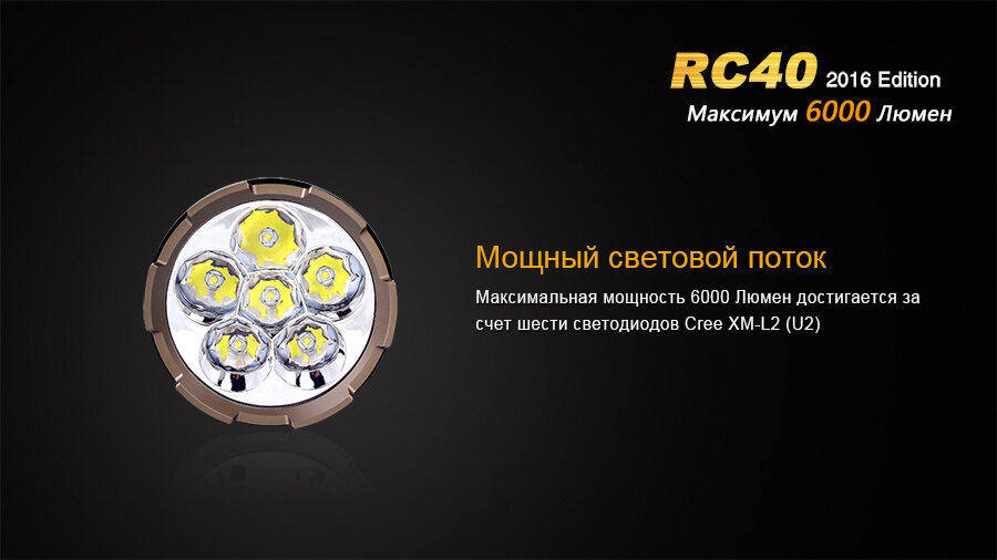 Фонарь Fenix RC40 Cree XM-L2 U2 LED 10807