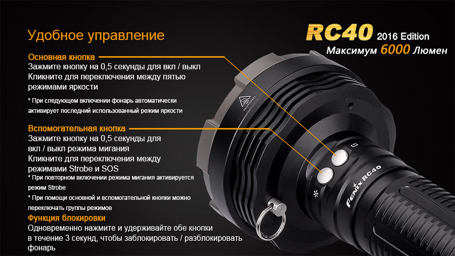 Фонарь Fenix RC40 Cree XM-L2 U2 LED 10809