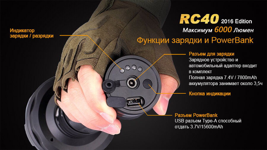 Фонарь Fenix RC40 Cree XM-L2 U2 LED 10810