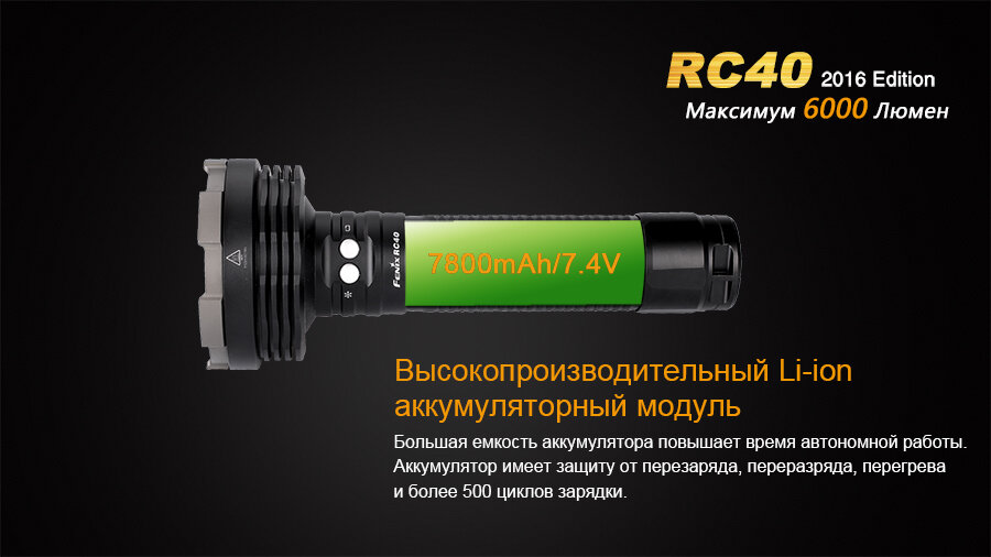Фонарь Fenix RC40 Cree XM-L2 U2 LED 10811