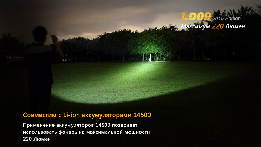 Фонарь Fenix LD09 Cree XP-E2 (R3) LED (2015) 6809