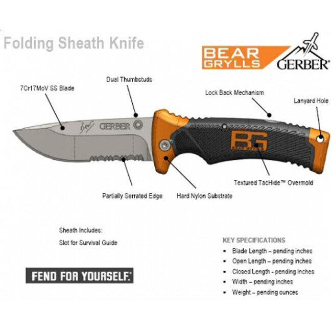 Нож Gerber Bear Grylls Folding Sheath Knife (31-000752) 7034