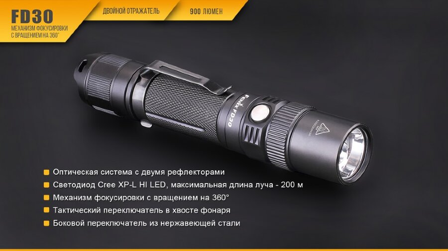 Фонарь Fenix FD30 Cree XP-L HI LED 30425