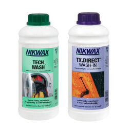 Набор Nikwax Twin Pack (Tech Wash 1L + TX Direct 1L)